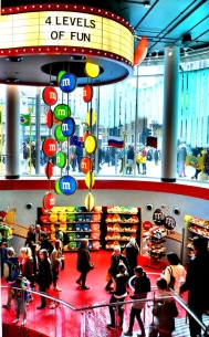 M and Ms in London - four levels of fun